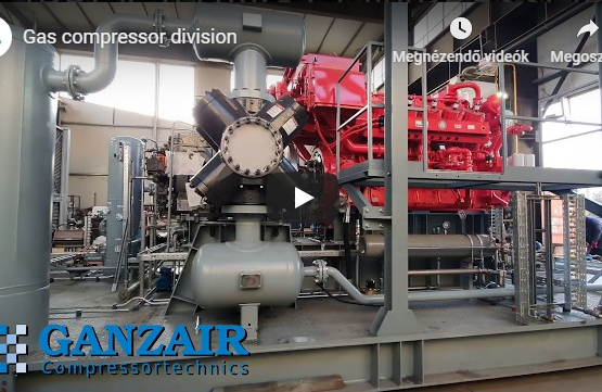 Brand new natural gas compressor package at shipment.